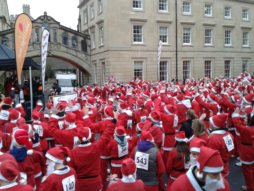 Zumba warm-up, Santa style! Once Gangnam Style started, there was no stopping us!