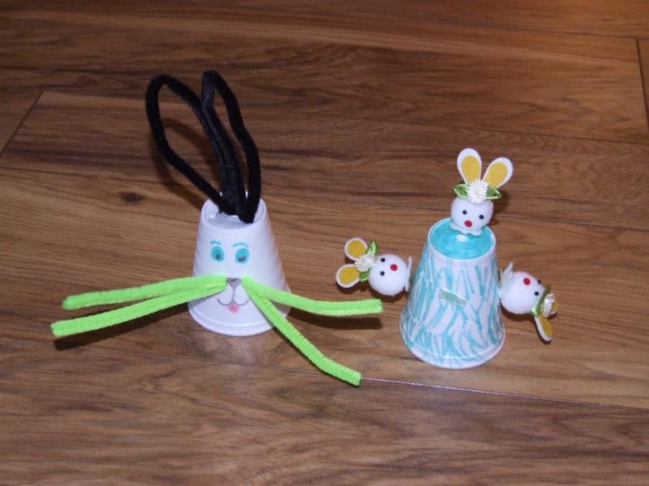 Styrofoam bunnies