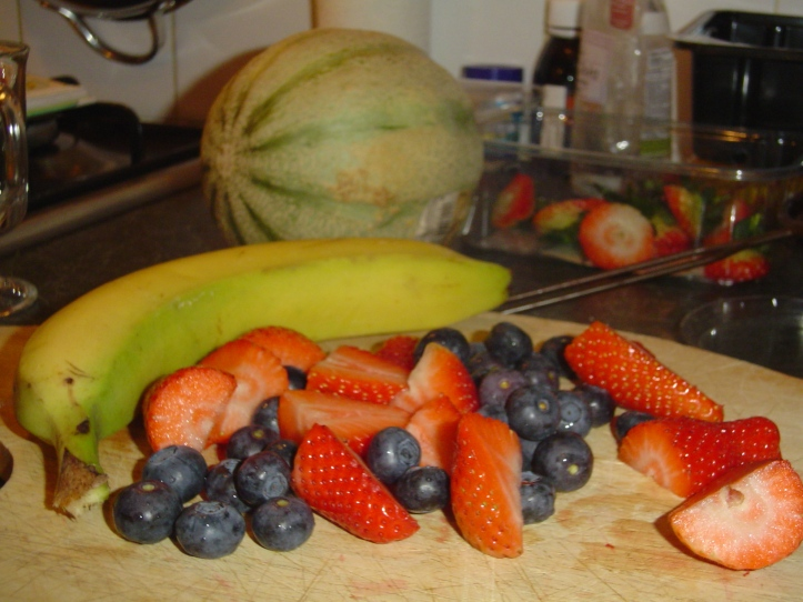 Ingredients for our smoothies