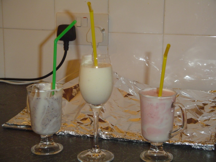 The finished products! I think we all preferred the banana best...