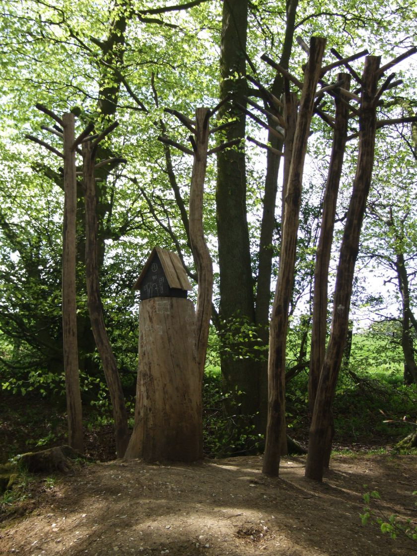 A woodland walk - we came across several wooden sculptures like this.