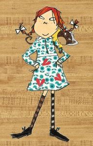 Pippi Longstocking, as drawn by Lauren Child, courtesy of telegraph.co.uk