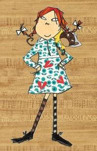 Pippi Longstocking, as drawn by Lauren Child, courtesy of telegraph.co.uk