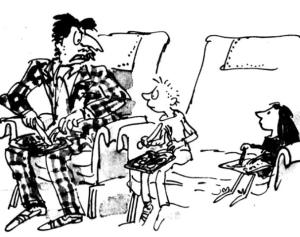 One of Quentin Blake's marvelous illustrations from Matilda. Image courtesy of kelvincheong.com