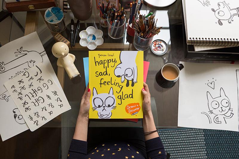 Yasmeen Ismail in her Studio on 28.2.17